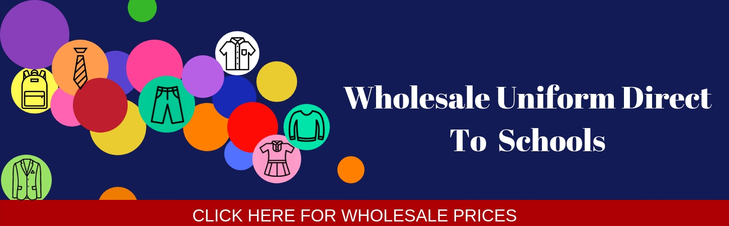 wholesale school uniform straight to schools, free delivery for orders over 25 pieces. no order to big or too small